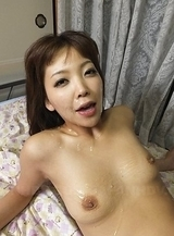 Hot Juri Kitahara gets a lot of cum on face