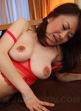 Machimura Sayoko gets toys, dong and cum
