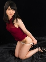 Reo Saionji posing in white lingerie and looking seductive as fuck on camera
