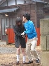 Nasty Mai Shimizu sucks a cock and gets cum