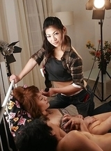 Ryo Sasaki enjoys watching couple fucking